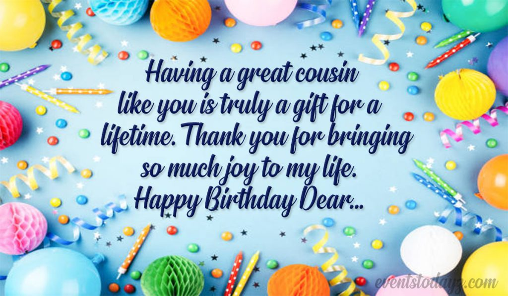 Happy Birthday Cousin Birthday Wishes Messages For Cousin