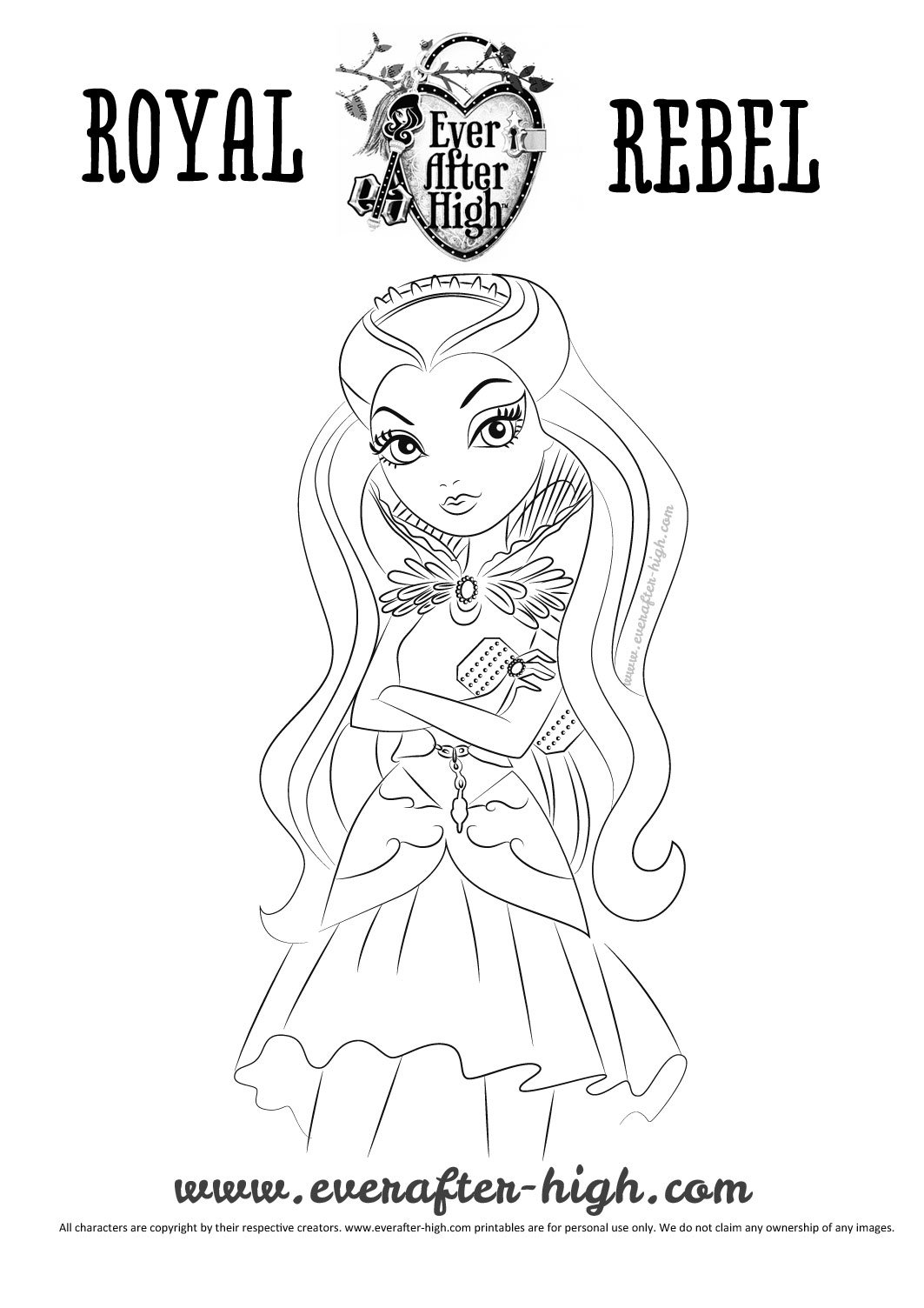 Raven Queen Coloring Pages