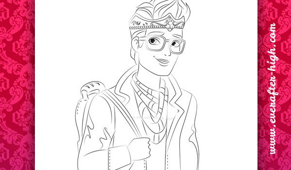 Dexter Charming Coloring Page Ever After High