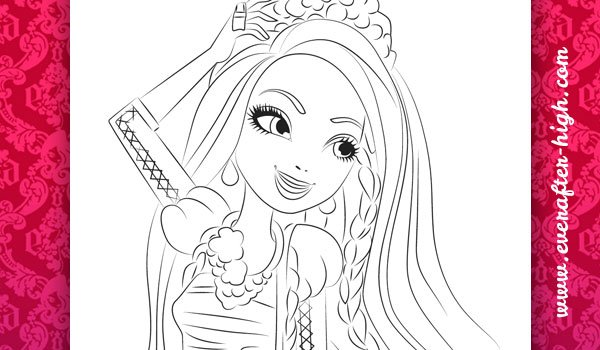 ever after haie colouring pages