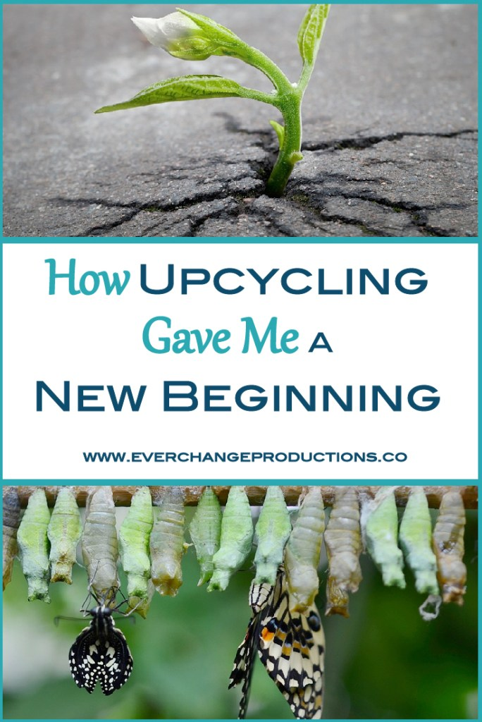 Starting over with a new beginning is always difficult. Check out my story and how upcycling projects helped me see things in a new light.