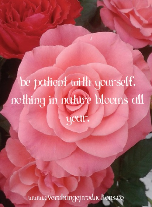 Need some motivation, remember this: Be patient with yourself. Nothing in nature blooms all year.