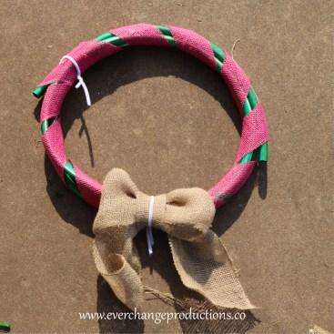 Upcycled Hose Wreath Step 3