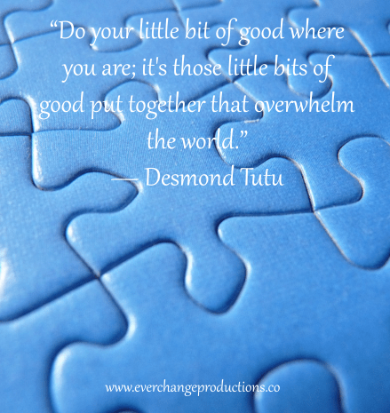 "Need some Monday Motivation to start your week off? Just remember: ""Do your little bit of good where you are; it's those little bits of good put together that overwhelm the world."" ― Desmond Tutu"