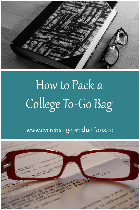To-Go bags in college are essential to any time and money saving lifestyle. Today, I'll talk a little about what a to-go bag is and why it's important.
