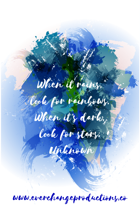 Need some motivation to start of the week? Just remember When it rains, look for rainbows. When it's dark, look for stars. -Unknown Follow the link for this week's encouraging message.