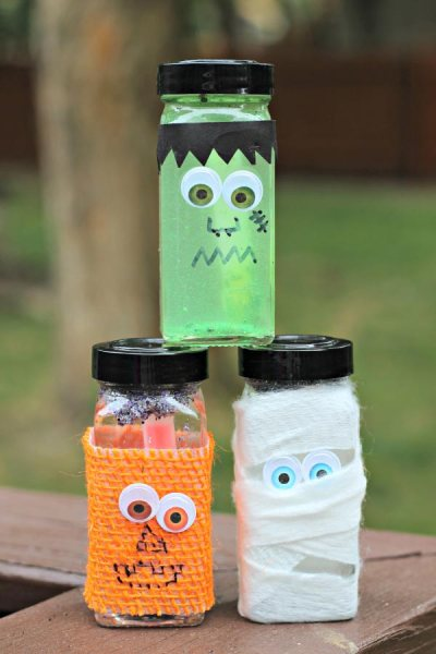 Halloween Glitter & Glow Sensory Craft Wicked Awesome Halloween Decorations