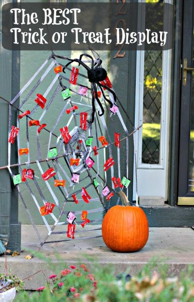 Trick or Treat Web Wicked Awesome Upcycled Halloween Decorations