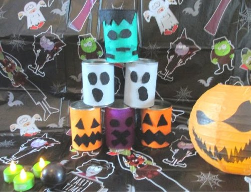 Tin Can Alley Game Wicked Awesome Upcycled Halloween Decorations