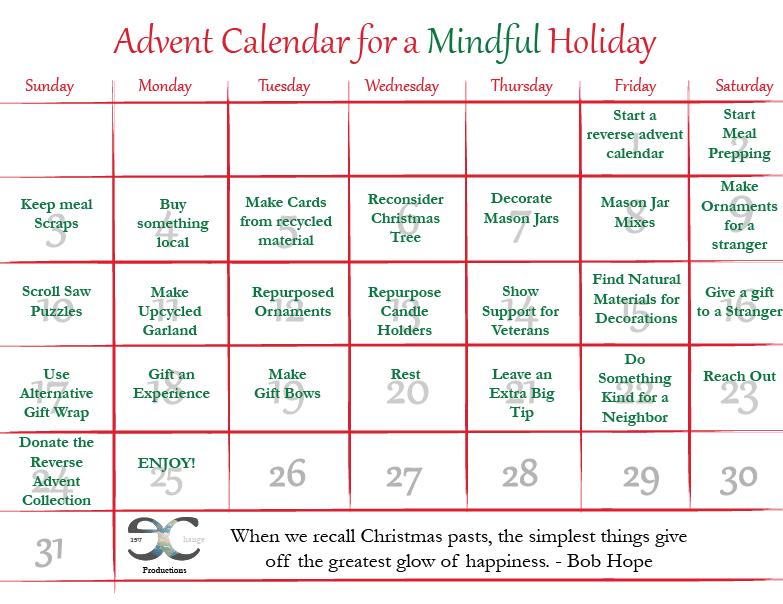 25 Eco-Friendly Advent Calendar Activities Printable