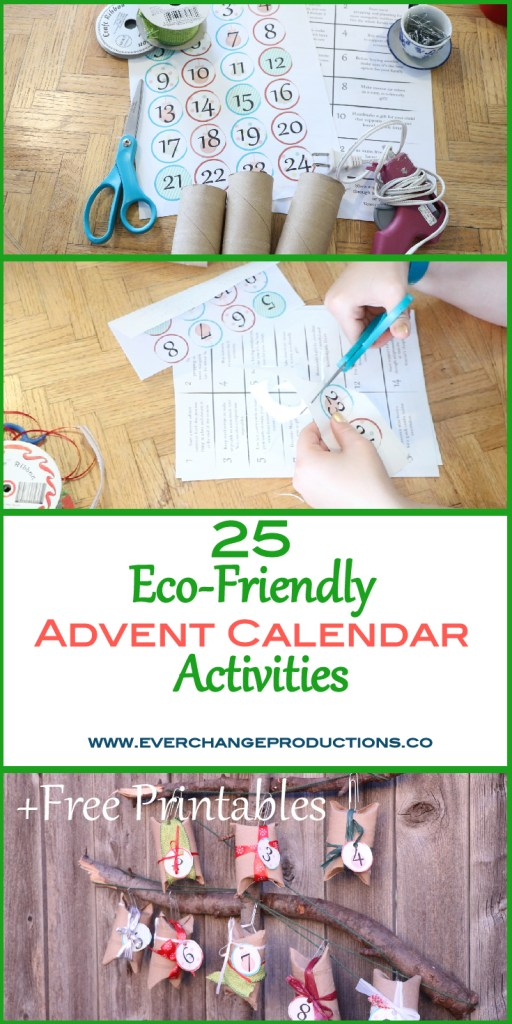 Don't be consumed by holiday expectations. Simplify your holidays and take time to focus on giving back with these eco-friendly advent calendar activities.