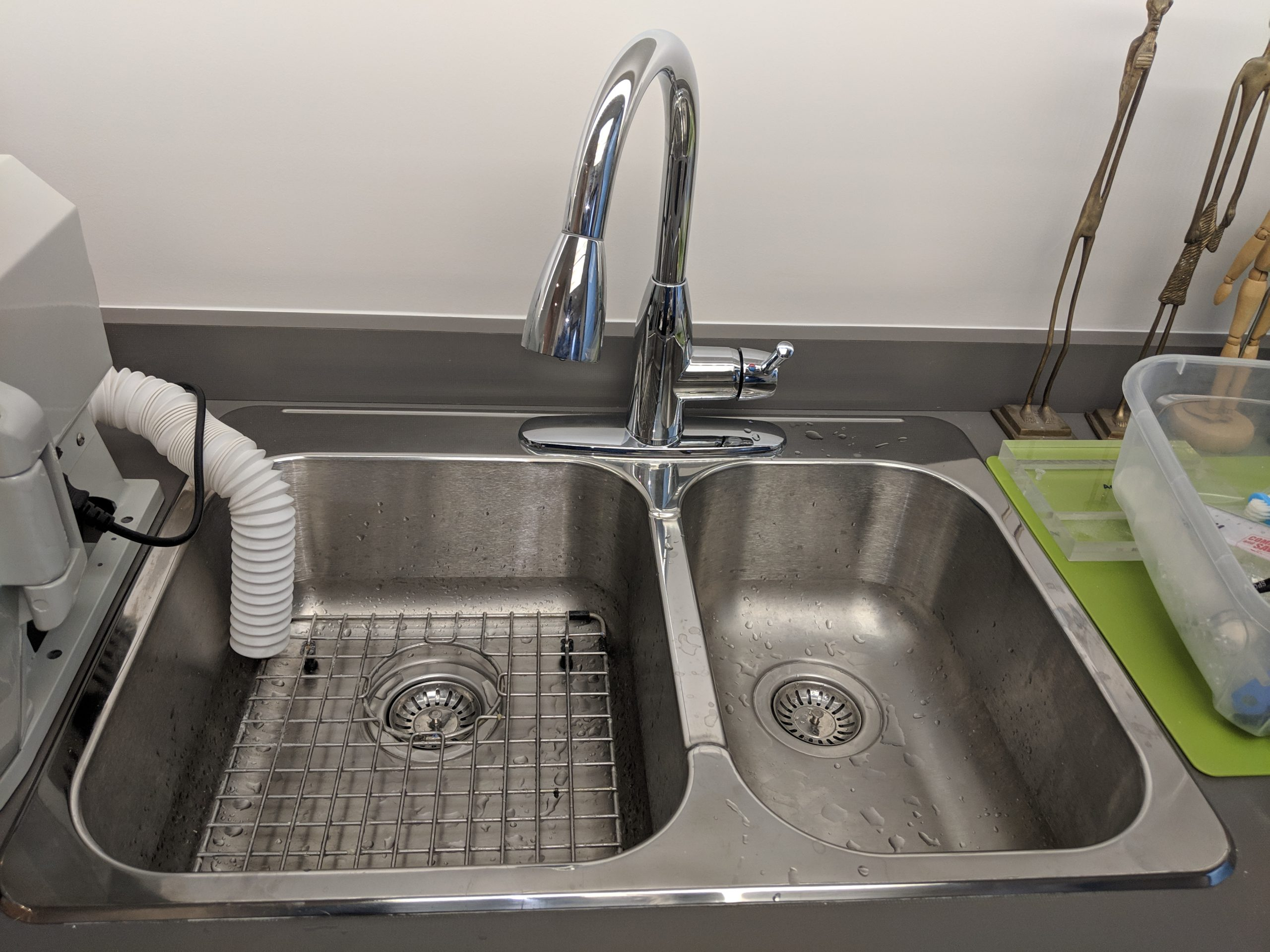 clogged kitchen sink drain