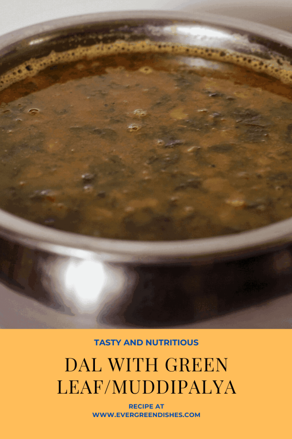 dal with green leaf / muddipalya