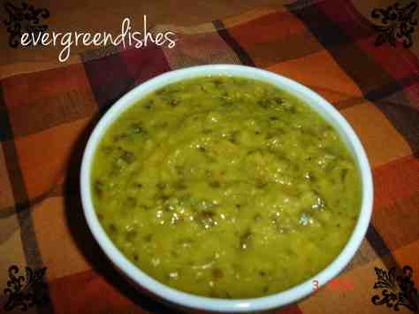 dal with green leaf