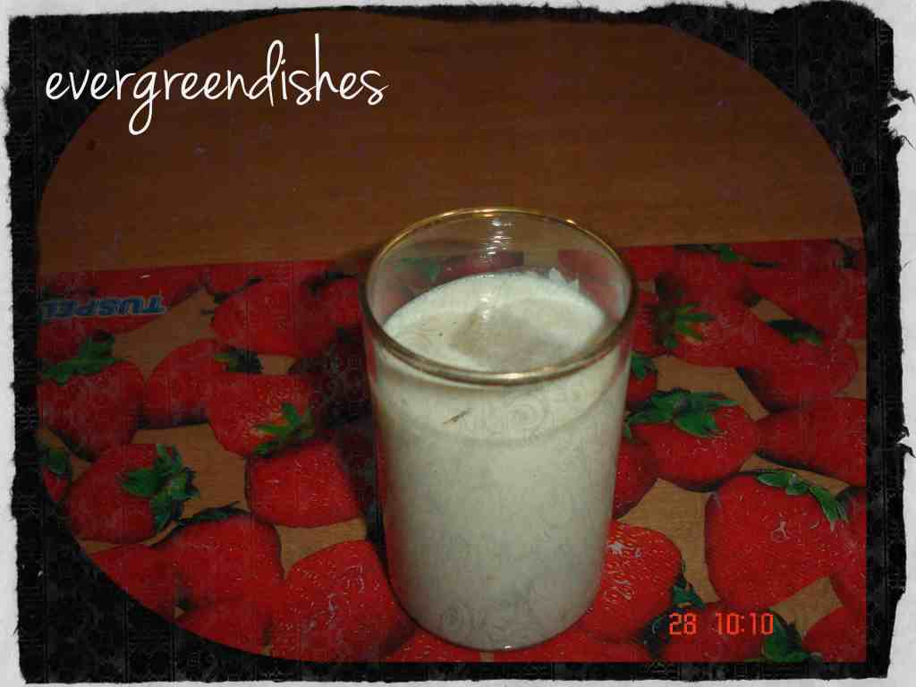 Custardapple milkshake
