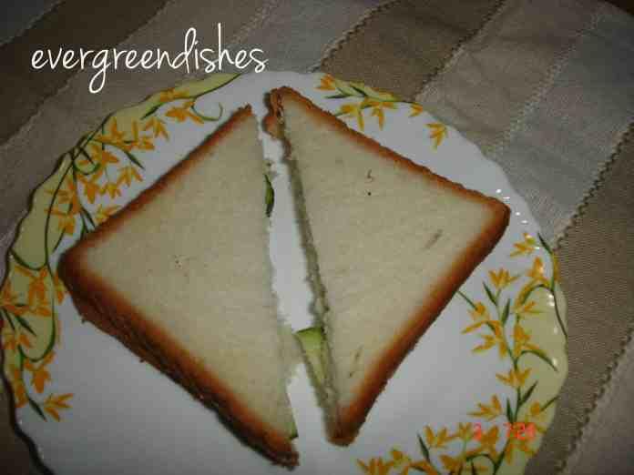 vegetable cheese sandwich