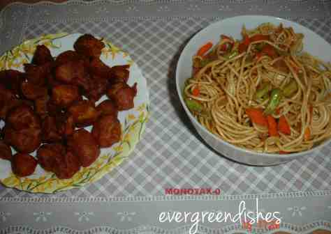 my indo chinese dishes