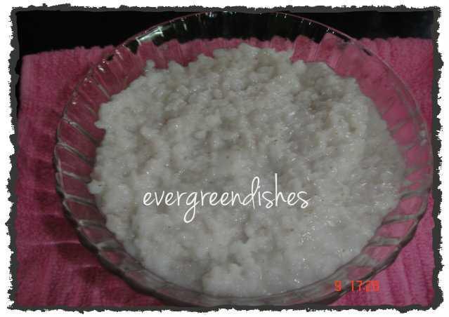 Rice Porridge for summer