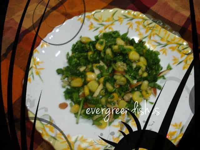 spinach and corn salad