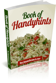 book of handyhints  Seekh Moong Kabab book pic