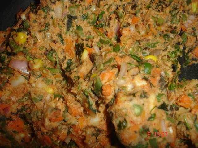 veg kabab mixture  Veg Seekh Kabab DSC02860