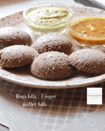 Ragi Idli / Finger Millet Idli