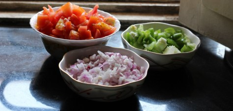 veggies chopped