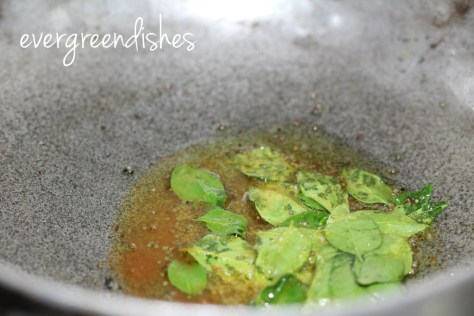 add the curry leaves