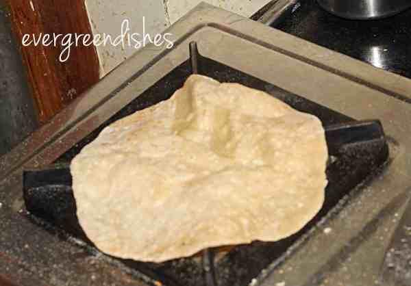 roti put directly on flame roti Restaurant style roti Roti9 600x418