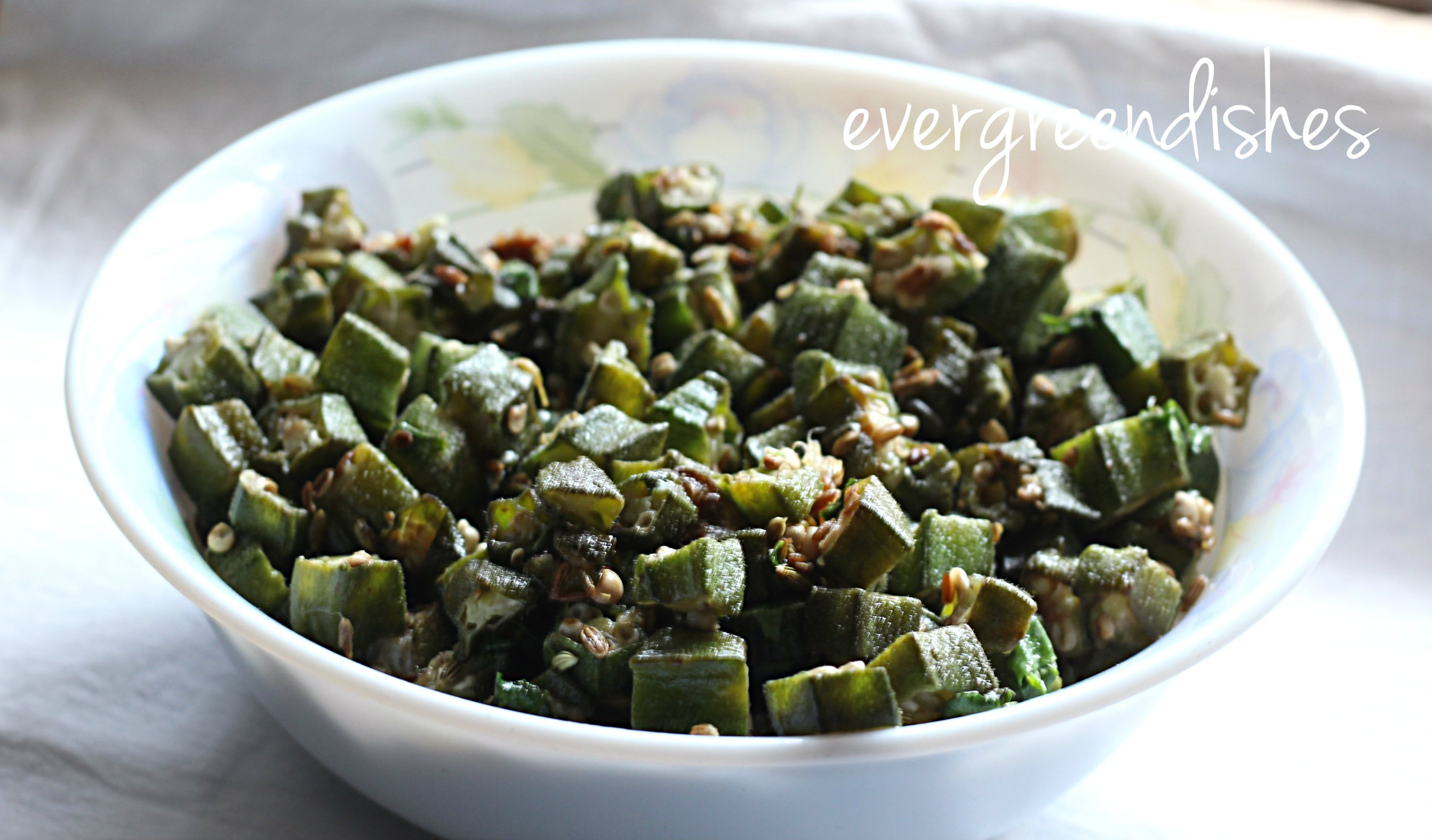 Delicious Okra stir fry, no onion garlic