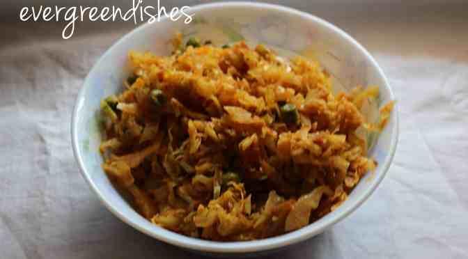 Bandhakopir Torkari Cabbage stirfry in Bengali style