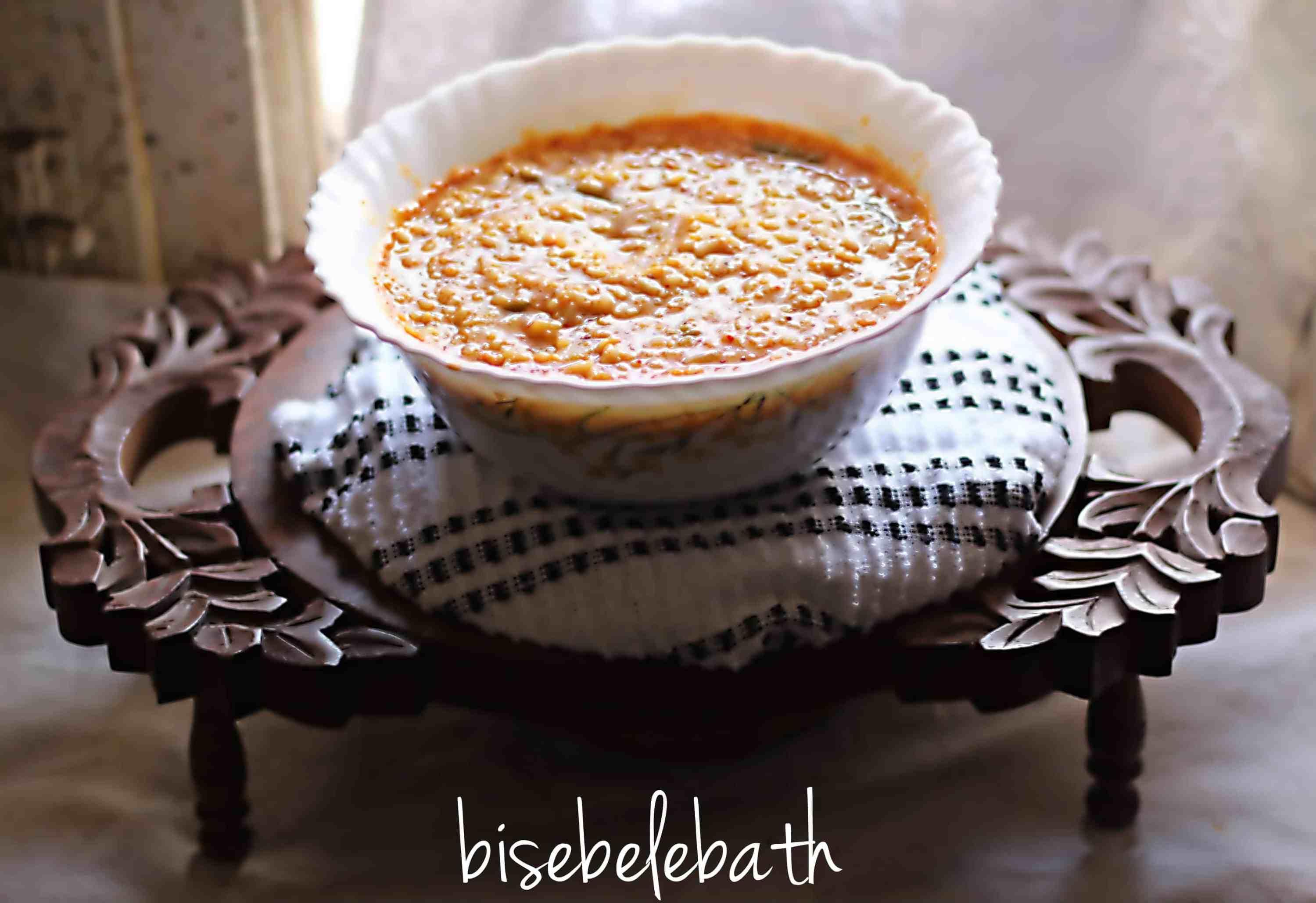 Bisebelebath, popular karnataka recipe