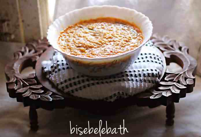 Bisebelebath, popular karnataka recipe