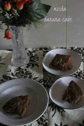 mocha banana cake  Mocha Banana Cake | healthy mocha cake mocha banana cake4 200x300