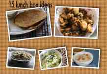 lunch box collage