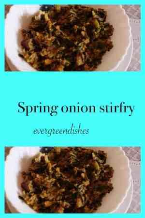 spring onion stirfry