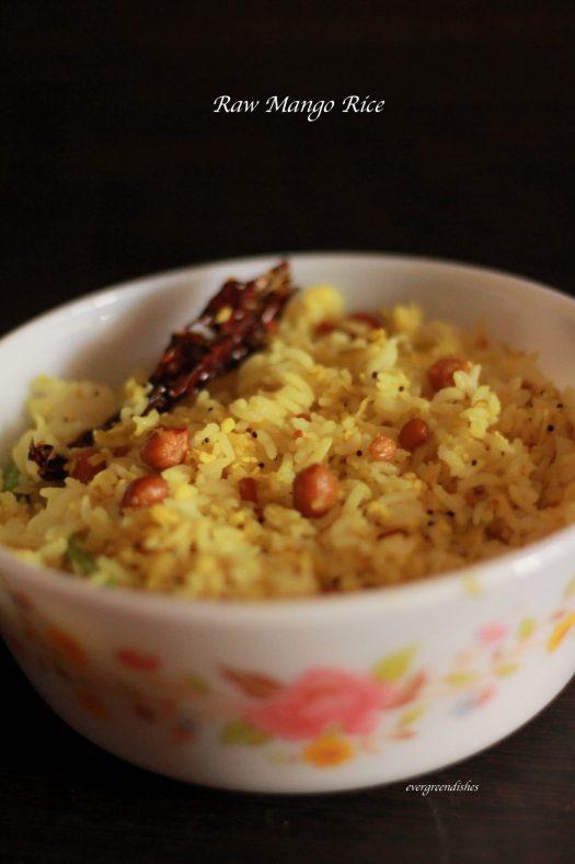 raw mango rice, mavina kayi chitranna
