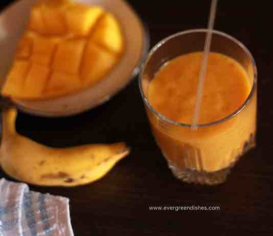 banana mango milkshake