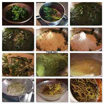 Making of Palak Sev