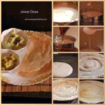 making of jowar dosa