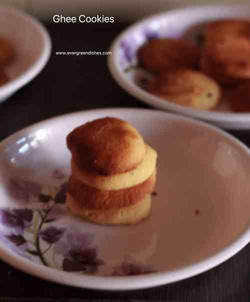 Three ingredient cookies | Ghee Cookies