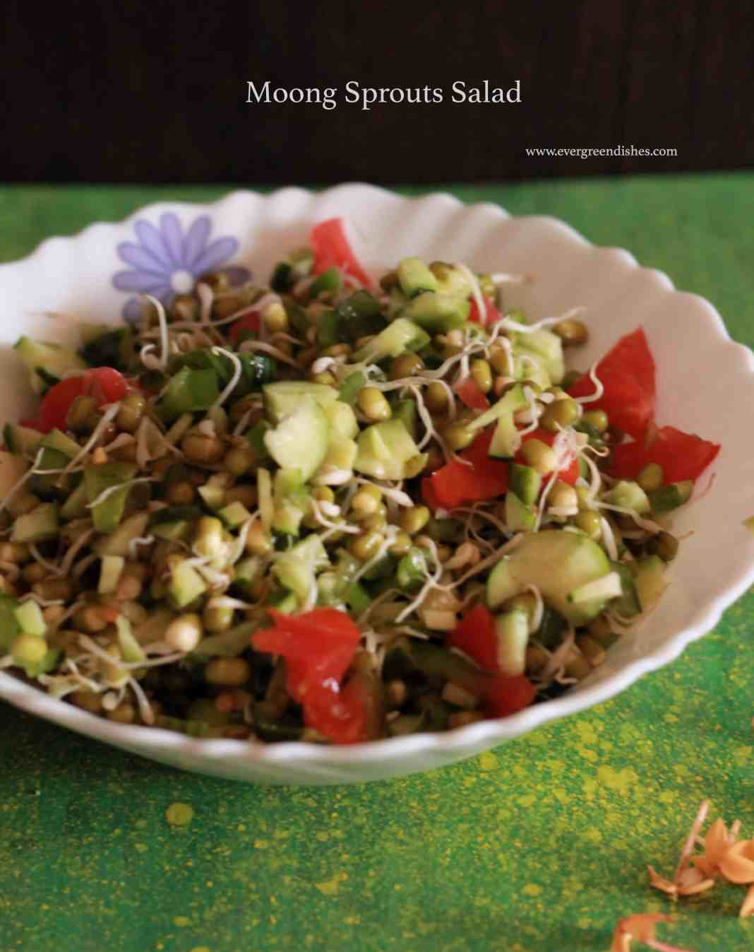 Sprouted Moong Salad