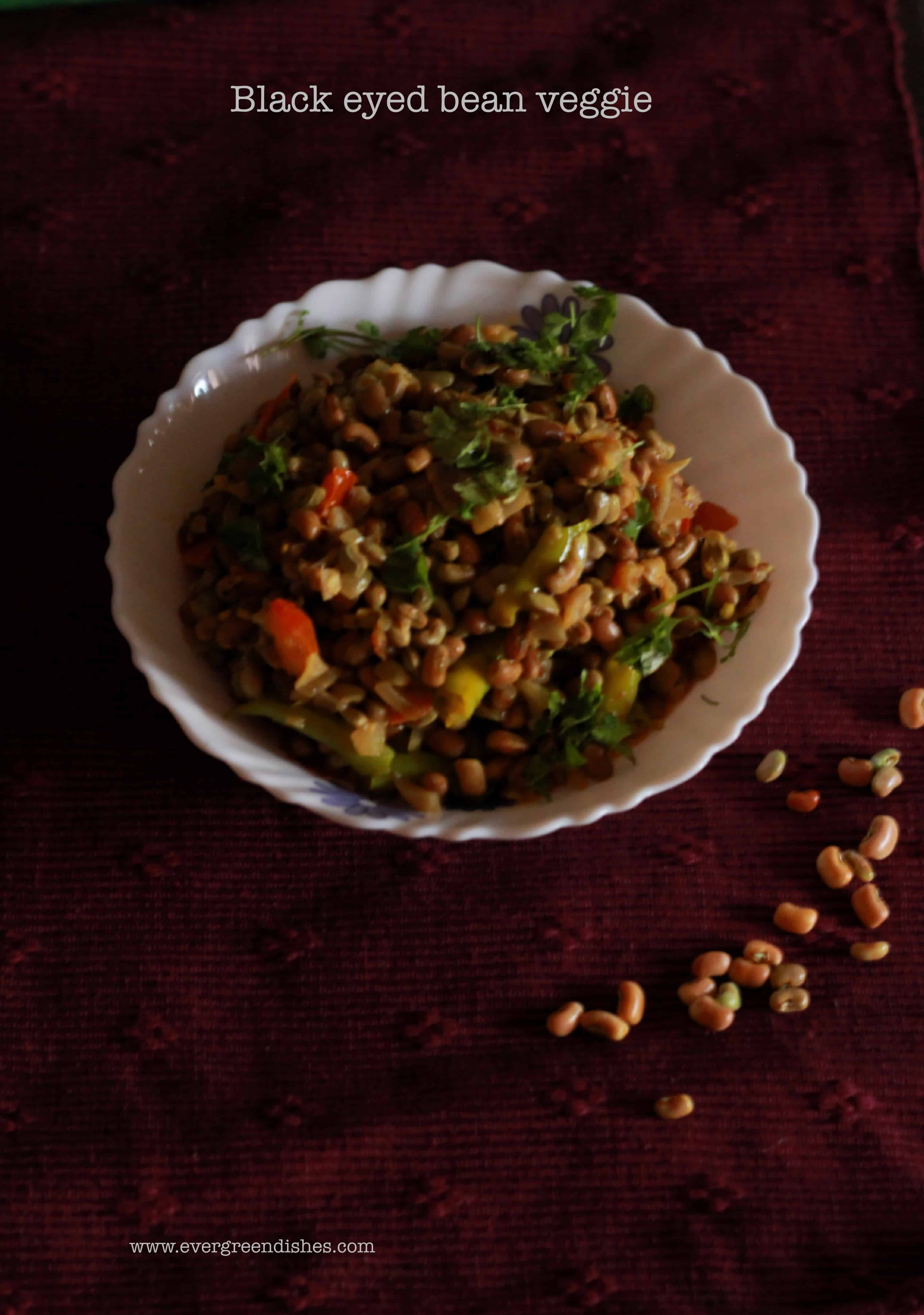 black eyed pea stir fry
