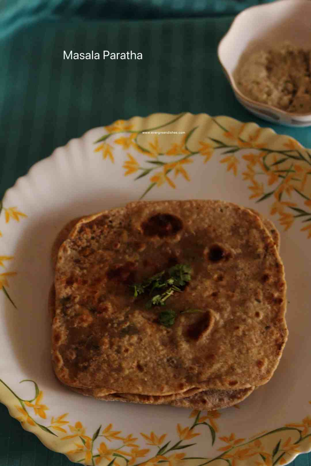 Masala parathas are spicy and different. They are ideal for lunch or dinner.