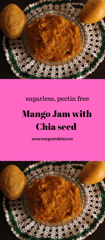 Mango Jam with Chia seed / no sugar and pectin