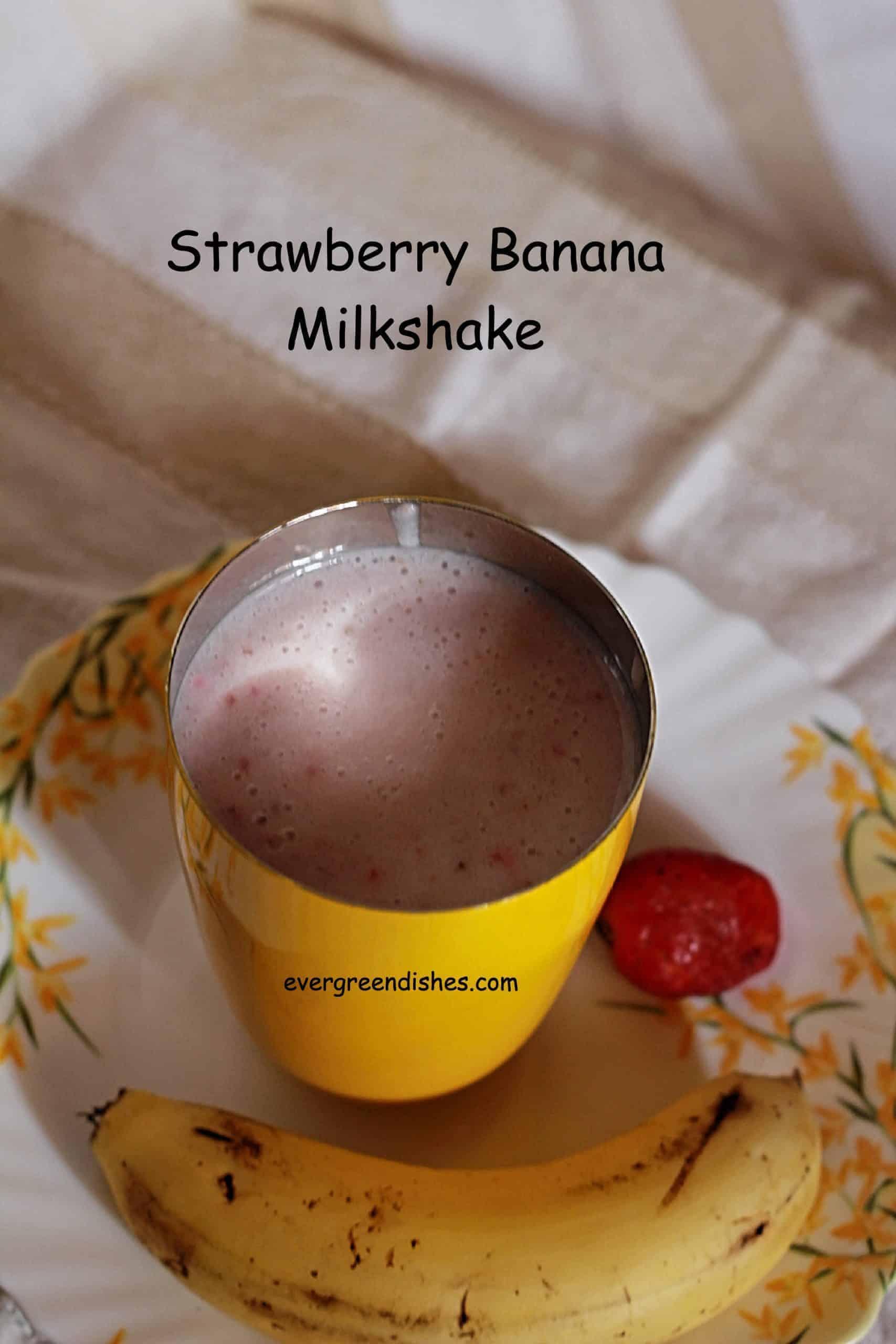 strawberry banana milkshake