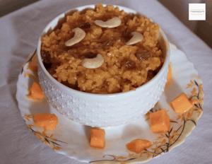 sweet mango rice / amba bhaat