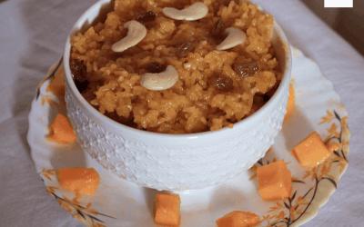 Sweet Mango Rice / Amba Bhaat | Maharashtian cuisine
