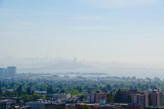 San Francisco Bay from Memorial Stadium, Berkeley, California
