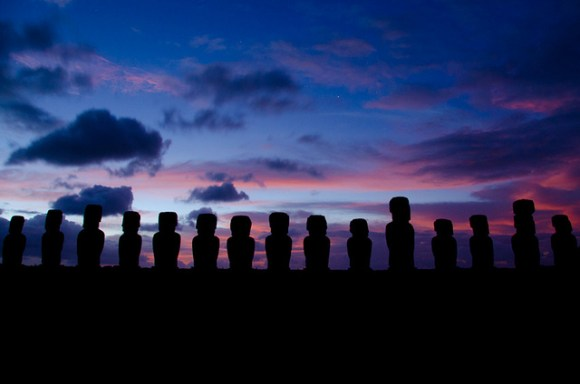 Sunrise at Ahu Tongariki, Easter Island